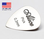 Stainless Steel Guitar Pick Heart Shape Heavy 0.3mm Alice 10pcs USA Seller - 1st Door Imports