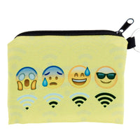 Wifi Emoji Coin Purse with Key Ring
