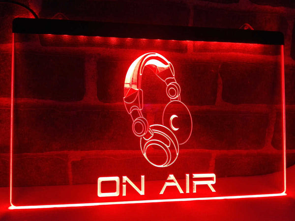 On Air Headset LED Sign for Podcast Recording Studio