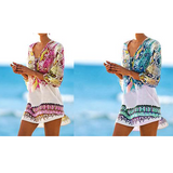 Snake Print Beach Cover Up Pink or Blue Snakeskin