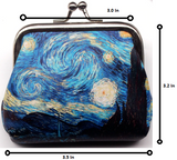 Starry Night Coin Purse - Van Gogh Vintage Style Change Bag