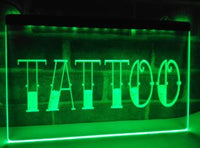Tattoo LED Sign Parlor Light Open Advertisement