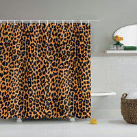 Leopard Shower Curtain with Hooks