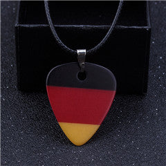 German Flag Guitar Pick Necklace - 1st Door Imports