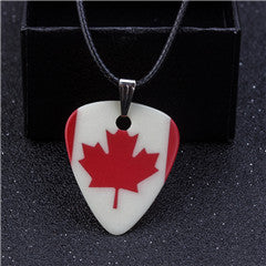 Canadian Flag Guitar Pick Necklace - 1st Door Imports