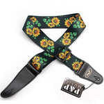 Sunflower Guitar Strap Kansas Country Folk Music - 1st Door Imports