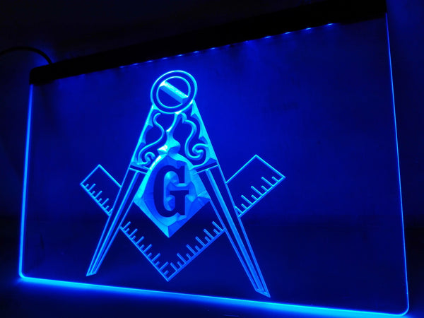 Freemason LED Sign Square and Compass Masonic G Symbol - 1st Door Imports