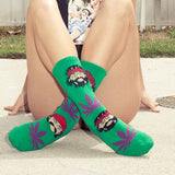 Cheech and Chong Marijuana Leaf Socks
