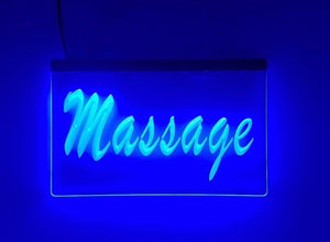 Blue Massage LED Sign