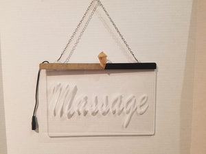 Massage LED Sign Peel Off