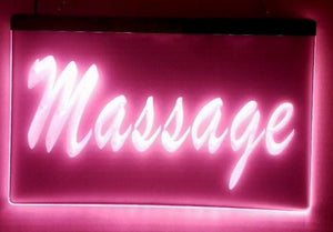 Pink Massage LED Sign
