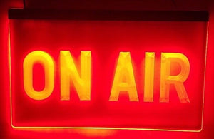 ON AIR Studio LED Sign Recording Radio Podcasting Livestream - 1st Door Imports