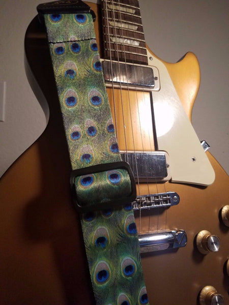 Peacock Tail Feather Guitar Strap - 1st Door Imports