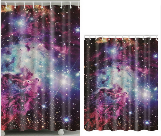 Psychedelic Shower Curtain Trippy Stoner Graphic Mandala Pattern w// Hooks