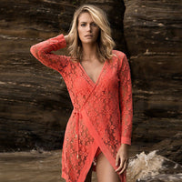 Floral Lace Swimsuit Cover Up Robe - 1st Door Imports