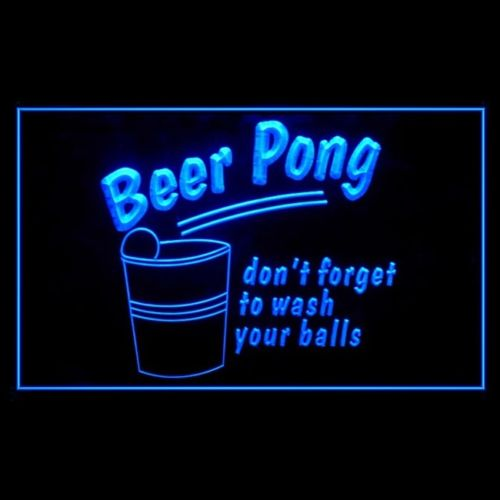 "Beer Pong ""don't forget to wash your balls"" LED Sign - 1st Door Imports"