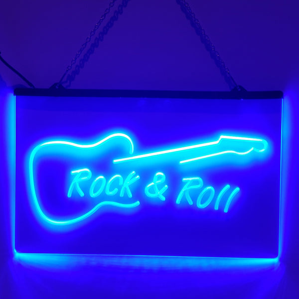 Rock and Roll LED Sign Studio Man Cave