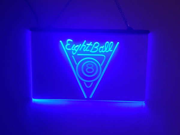 8 Ball Rack LED Sign Pool Hall Light
