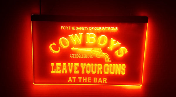 Oklahoma State Cowboys Leave Your Guns at the Bar LED Sign OSU - 1st Door Imports