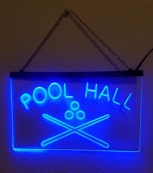 Pool Hall LED Sign Billiards Snooker Bar Light On/Off Switch - 1st Door Imports