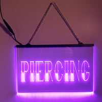 Piercing LED Sign Parlor Light