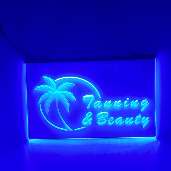 Tanning and Beauty LED Salon Sign Light Open