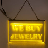 We Buy Jewelry LED Sign Pawn Shop Jeweler