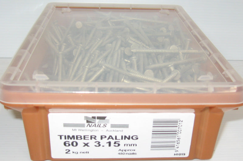 Loose Nails 60 x 3.15 Galv 2kg AG Paling