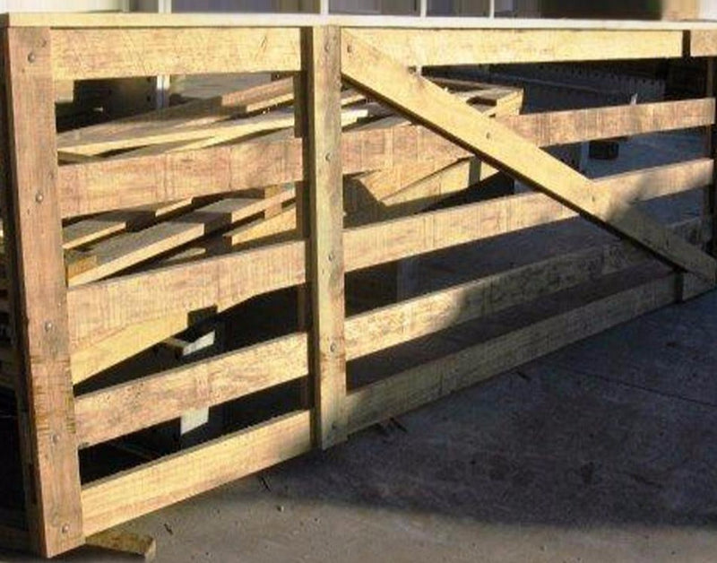 2.4m 5 Rail & Cap Std Wooden Gate