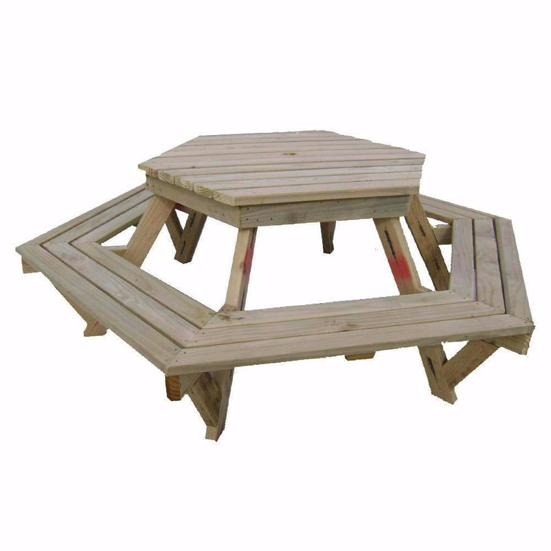 Hexagonal BBQ Table
