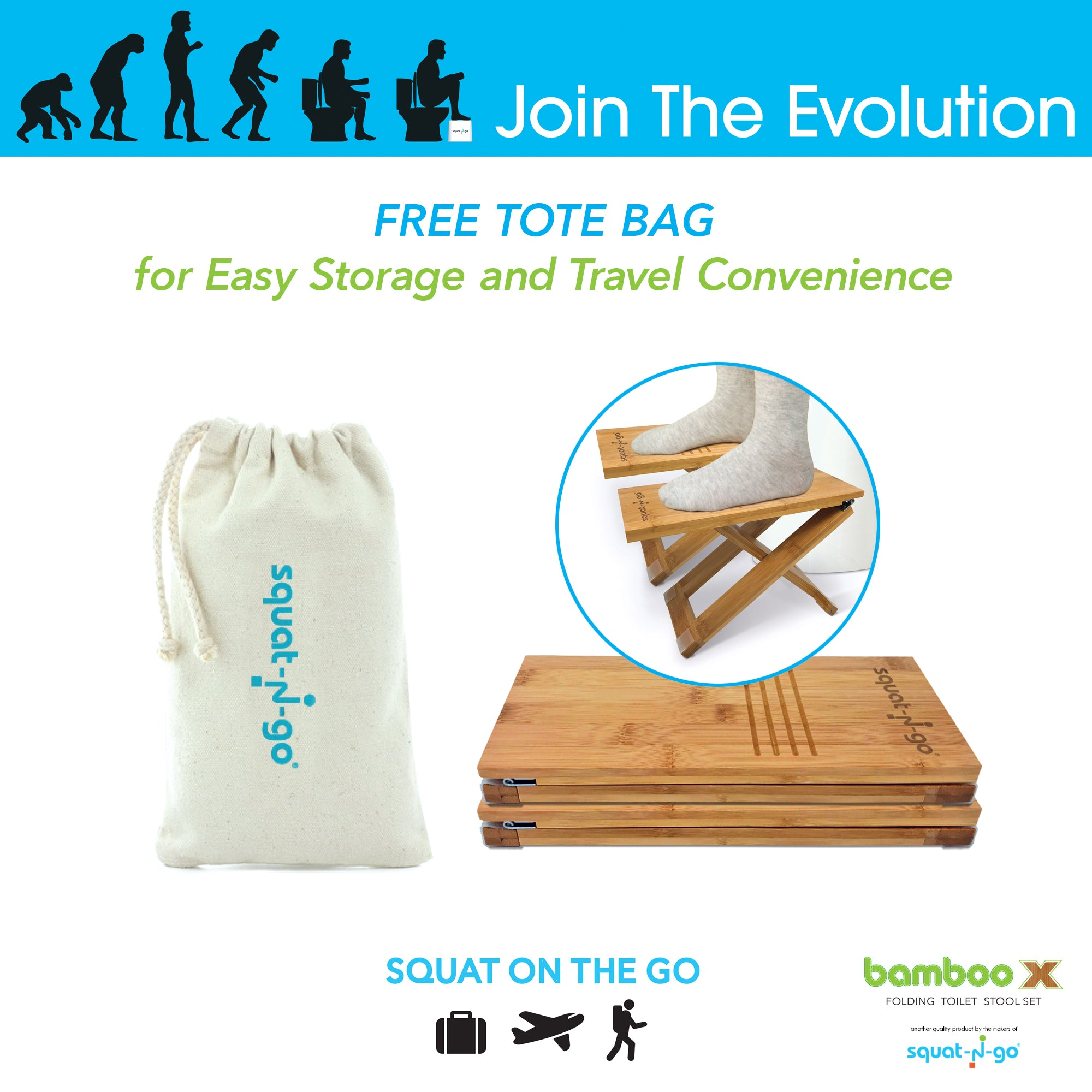 Groovy Bamboo X Toilet Stool Set Comes With Free Travel Bag Cjindustries Chair Design For Home Cjindustriesco