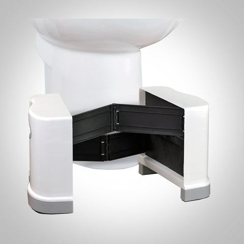 "Squat N Go Extendable Toilet Stool - Fits all toilets, 7"" and 8"" Heights"