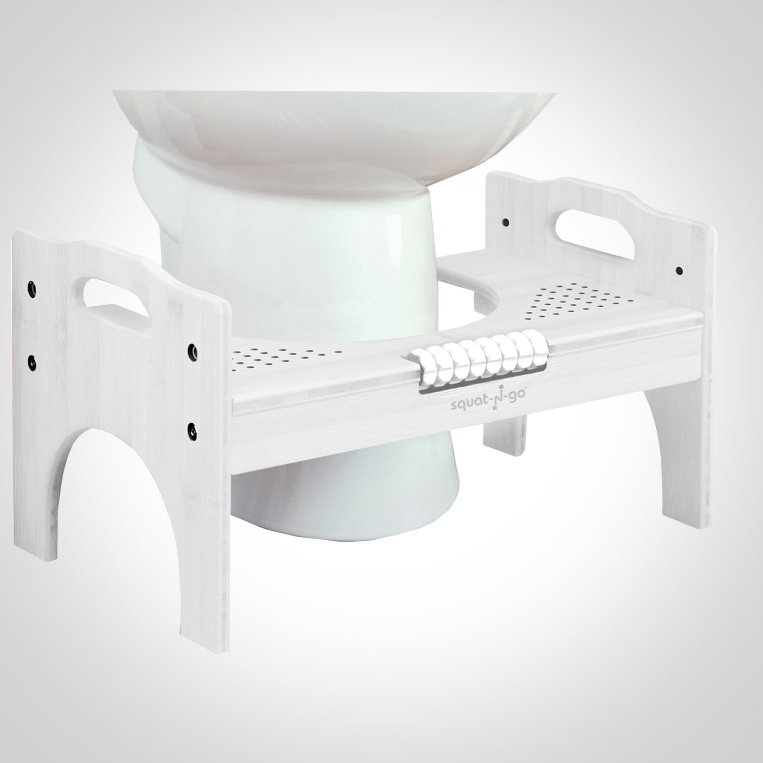 Enjoyable Bamboo Adjustable Toilet Stool W Foot Roller Squat N Go Gmtry Best Dining Table And Chair Ideas Images Gmtryco