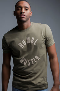 Male Olive Green Hustlr T-shirts