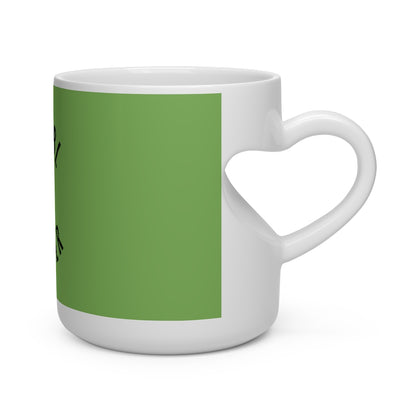 Humbl Hustlr Heart Shape Mug Green