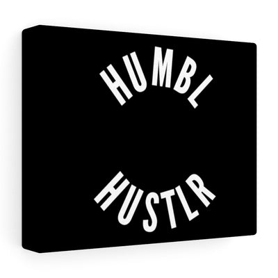 Humbl Hustlr Stretched canvas Black
