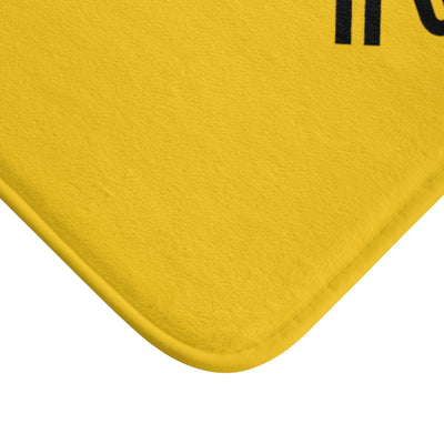 Humbl Hustlr Bath Mat Yellow