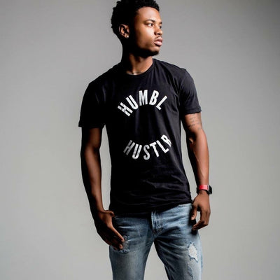 Men's Black Hustlr T-Shirt