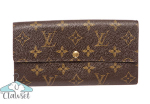 Louis Vuitton Monogram Canvas Leather Sarah Wallet