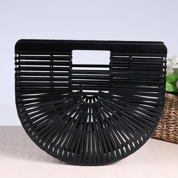Bamboo Black Beach Clutch
