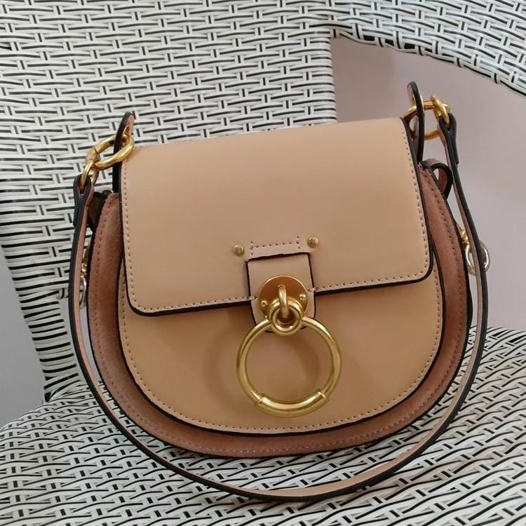 Mizza Nude Dome Leather Bag