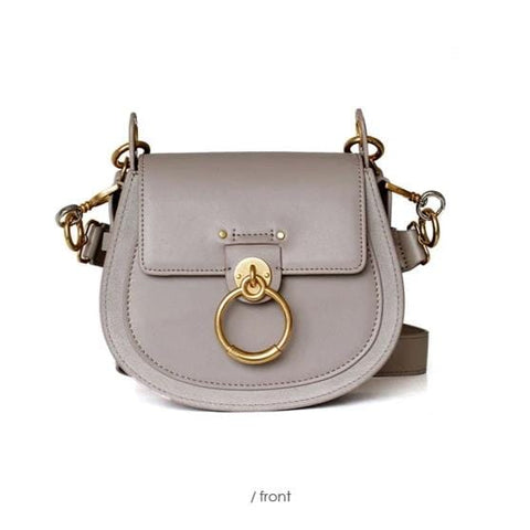 Mizza Grey Dome Leather Bag