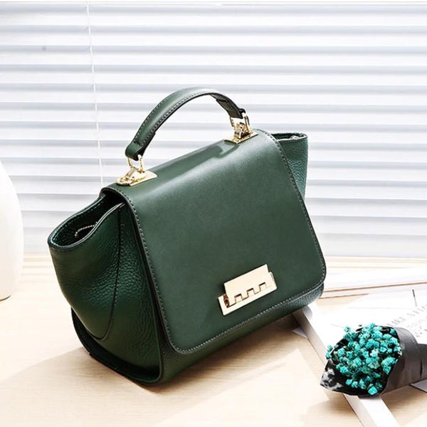 Siena Duo Green Leather Bag
