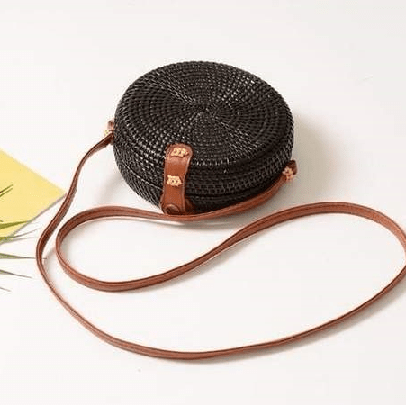 Summer@Coachella Black Rattan Bag