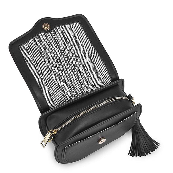 Chloe Black Leather Messenger Bag