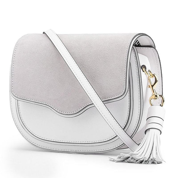Chloe White Leather Messenger Bag