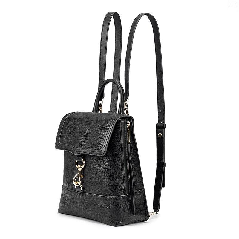 Tory Black Leather Backpack