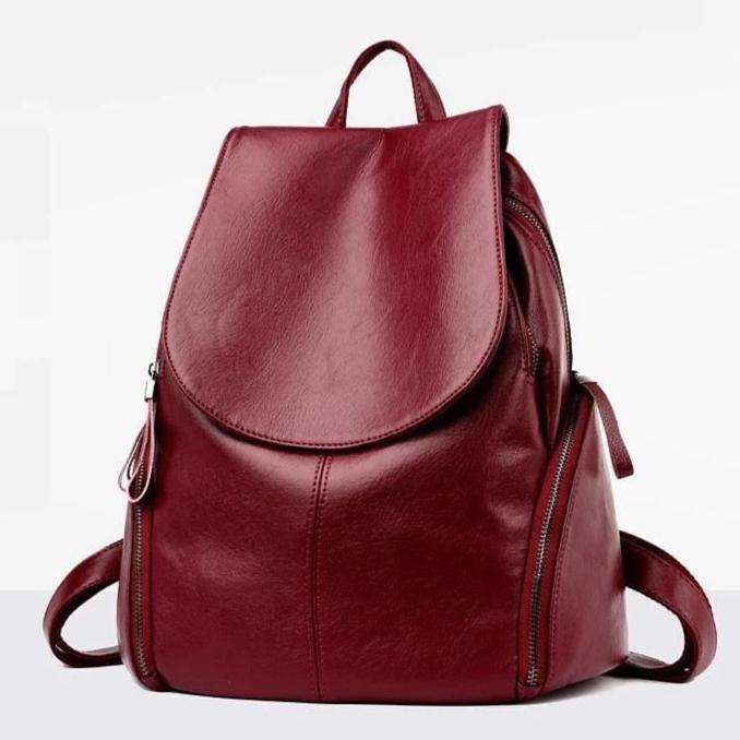 Tyra Bordeaux Leather Backpack