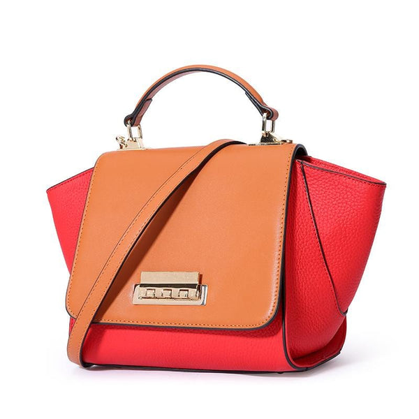 Siena Duo Red Leather Bag