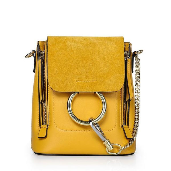 Kara Yellow Leather&Suede Bag